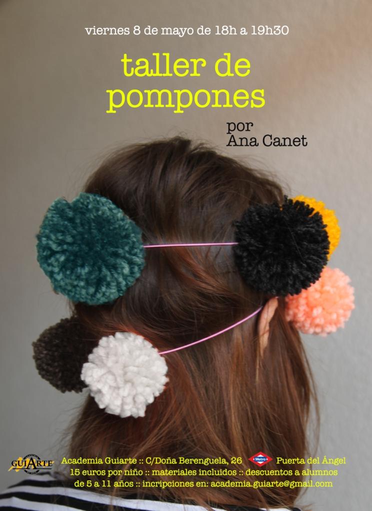 Cartel Taller de Pompones